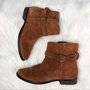Sam Eldelman Suede Booties with buckle detail